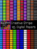 Creative Stripe Papers {Creative Clips Digital Clipart}