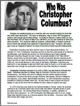 Christopher Columbus Projects, Plus Complete Unit of Activities