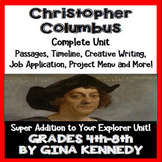 Christopher Columbus Unit, Plus Enrichment Project Menu