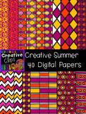 Creative Summer Papers {Creative Clips Digital Clipart}