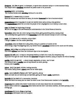 Creative Summer SAT List