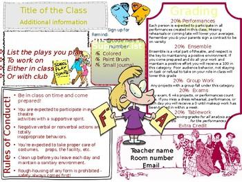 Creative Syllabus Templates for Theatre Teachers!