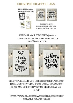 Creative Teacher Quote 2 Pack Page
