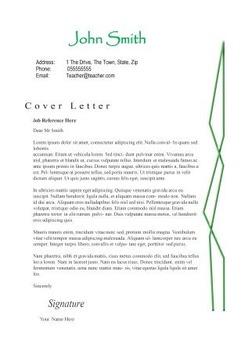Creative Teacher Resume: Bamboo Design