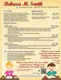 Creative Teacher Resume - Pick Me Template