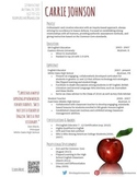 Creative Teacher Resume - Reflection Template