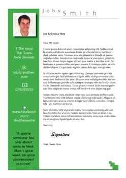 Creative Teacher Resume Green