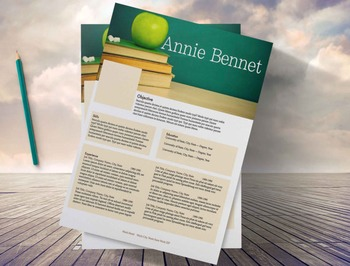 Creative Teachers Resume with Template, Instant Downloads,