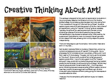 Creative Thinking About Art