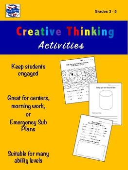 Creative Thinking Activities 3 - 5