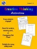 Creative Thinking Activities 3 - 5