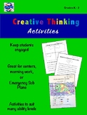 Creative Thinking Activities K-2