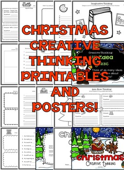 Christmas Worksheets (Christmas Activities for Creative Thinking)
