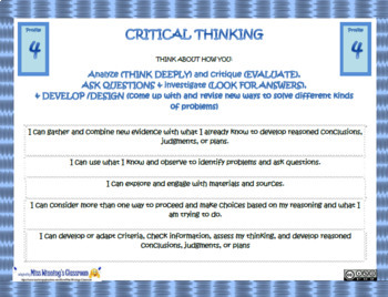 Creative Thinking Core Competencies Profiles Slides (New BC Curriculum)
