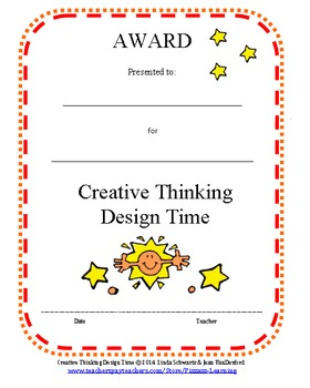 CREATIVE THINKING: DESIGN TIME TASK CARDS