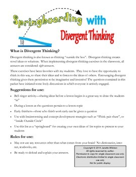 Creative Thinking Exercises: Springboarding with Divergent Thinking