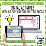 Creative Thinking Interactive Paperless Digital Writing Activities Google Drive®