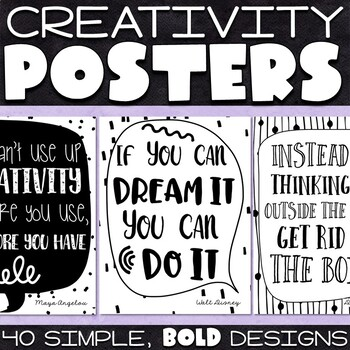 Creativity Quotes Posters