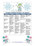 January Creative Thinking Prompts Calendar