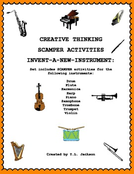 Creative Thinking SCAMPER Activities - Become an Inventor