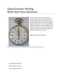 Creative Timed Writing - Write Your Own Adventure X 3