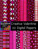 Creative Valentine Papers {Creative Clips Digital Clipart}