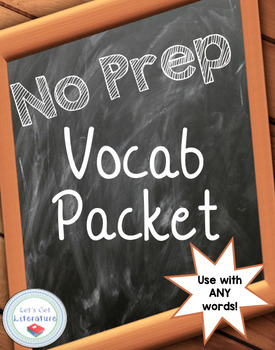 Vocabulary Packet No Prep