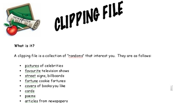 Creative Way to Teach Grammar and Writing Using a Clipping File