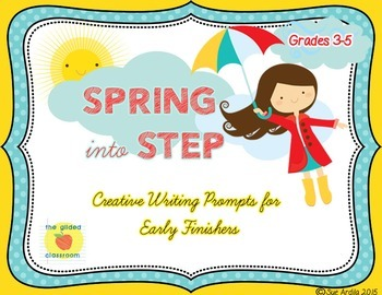 Spring Writing Prompts Task Cards