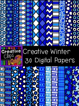 Creative Winter Clipart Papers {Creative Clips Clipart}