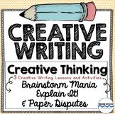 Creative Writing - 3 Lessons - Paper Disputes, Brainstorm