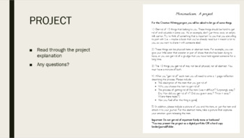 Creative Writing: A Minimalism Project