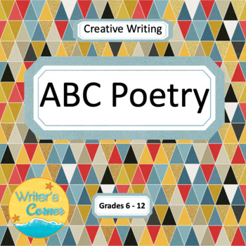 ABC Poetry Writing, Creative Writing, Free Verse, Sub Plan, Fun