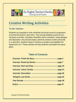 Creative Writing Activities Bundle