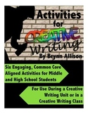 Creative Writing Activities - Engaging & Common Core Align
