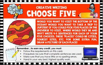 Creative Writing Activity Five Activities Fruit Smoothie Happy Bug Day...