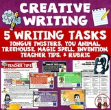 Creative Writing Activity Five Activities Tongue Twisters Design Treehouse...