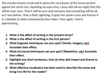 Creative Writing Activity Lesson Bundle
