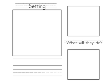 Creative Writing Activity With Planning Pages and Student Evaluation
