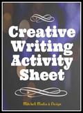 Creative Writing Activity Worksheet