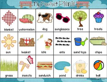 Creative Writing Activity for Developing Writers ~ My Perfect Picnic