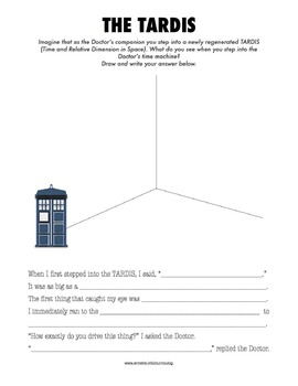 Creative Writing Activity for Kids: Write a Doctor Who Inspired Adventure