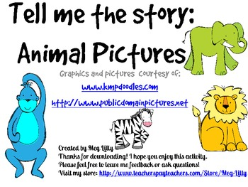 Creative Writing Animal Pictures