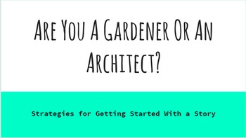 Creative Writing - Are You an Architect or a Gardener?
