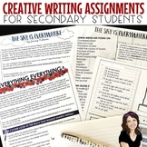 Creative Writing Assignments Inspired by YA Literature (Bundle)