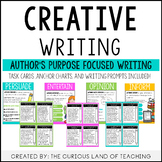 Creative Writing: Author's Purpose Focused Writing Prompts