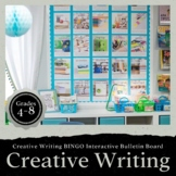 Creative Writing BINGO Interactive Bulletin Board EDITABLE: Extreme Makeover