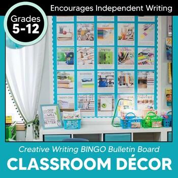 Creative Writing BINGO Interactive Bulletin Board EDITABLE: Extreme Makeover