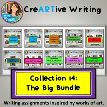 Picture Prompts: Creative Writing Big Bundle- Christmas Valentine's Thanksgiving