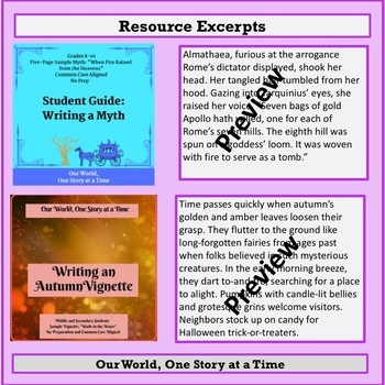 Creative Writing Bundle for 8th and 9th Grades